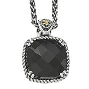 Shey Couture Genuine Onyx Sterling Silver Pendant Necklace