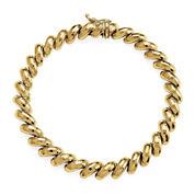 10K Yellow Gold San Marco Stampato Chain Bracelet