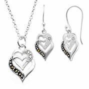 Sparkle Allure Le Vieux 2-pc. Marcasite Silver Over Brass Jewelry Set
