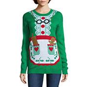 Tiara Mrs. Clause Apron Crew Neck Sweater