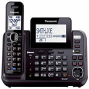 Panasonic KX-TG9541B Link2Cell DECT 6.0 2-Line Cordless Phone with 1 Handset & Answering Machine - Black