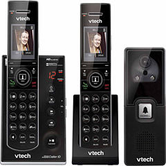 VTech IS7121-2 DECT 6.0 2-Handset Cordless Phone with Digital Answering System and Audio/Video Doorbell