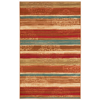 Mohawk Home Soho Mumbai Rainbow Printed Rectangular Indoor Rugs