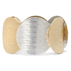 Two-Tone Circle Stretch Bracelet