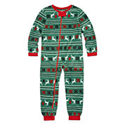 North Pole Trading Co Family Sleep Girls One Piece Pajama-Big Kid