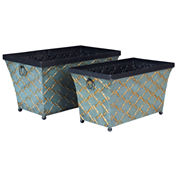Household Essentials Metal 2-pc. Storage Bin