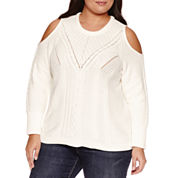 a.n.a Long Sleeve Scoop Neck Pullover Sweater-Plus