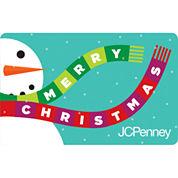 Merry Christmas Snow Man  Gift Card