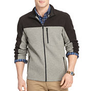 IZOD® Full-Zip Pieced Shaker Fleece Jacket