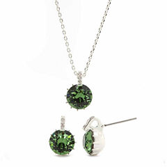 Sparkle Allure 2-pc. Green Crystal Jewelry Set