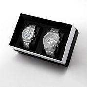 JBW Vanquish&Vixen 1/8 Ct. T.W. Diamond Accent Unisex Silver Tone 2-pc. Watch Boxed Set-J6337cj6327a