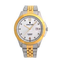 Croton Mens Two Tone Bracelet Watch-Cn307562ttsd