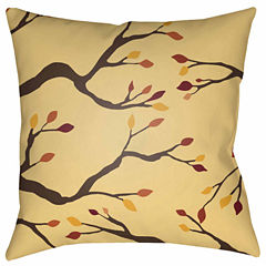 Decor 140 Autumn Branches Square Throw Pillow