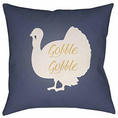 Decor 140 Tom Turkey Square Throw Pillow