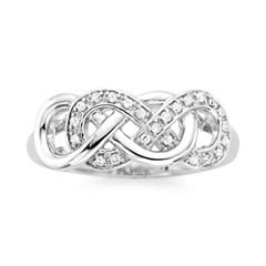 Infinite Promise 1/10 CT. T.W. Diamond Sterling Silver Ring