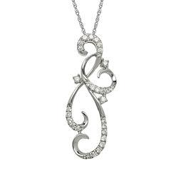 1/8 CT. T.W. Diamond 10K White Gold Pendant Necklace