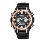 Armitron® Mens Black Strap Analog Digital Watch