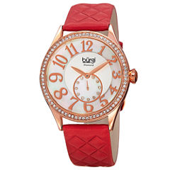 Burgi Womens Red Strap Watch-B-141rd