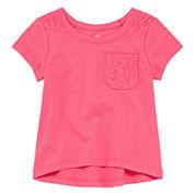 Okie Dokie Girls Short Sleeve T-Shirt-Baby
