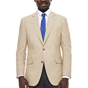Stafford Linen Cotton Sand Sport Coat- Classic Fit