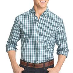 IZOD Advantage Stretch Slim Fit Long Sleeve Gingham Button-Front Shirt