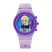 Girls Purple Strap Watch-Fzn3903jc