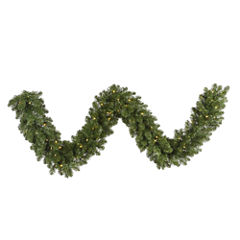 50 Ft. Pre-Lit Grand Teton Artificial Christmas Garland with Warm White LED Lights