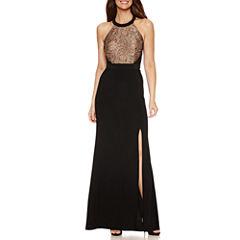 DJ Jaz Sleeveless Embellished Evening Gown