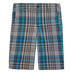 Arizona Plaid Shorts - Boys 8-20, Slim and Husky