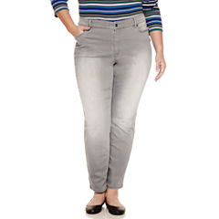 Liz Claiborne® 5-Pocket Slim-Leg Jeans - Plus