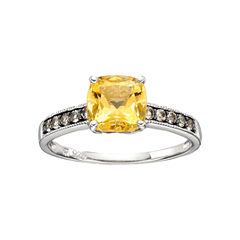 Lab-Created Citrine & Smoky Quartz Ring