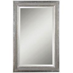 Triple-Beaded Vanity Mirror