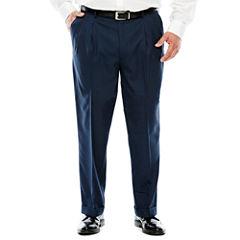 Stafford® Sharkskin Pleated Pants–Big & Tall