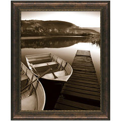 Rowboat Waits Framed Wall Art