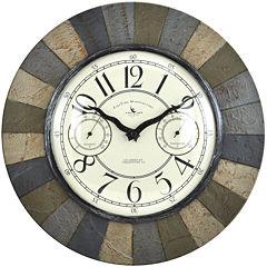 FirsTime® Slate Garden Wall Clock