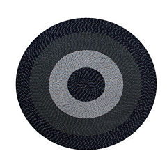 Better Trends Country Stripe Braided Round Reversible Rug - 6'