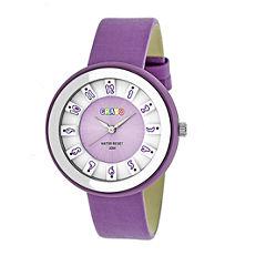 Crayo Unisex Purple Strap Watch-Cracr3407
