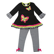 Rare Editions 2-pc. Legging Set-Preschool Girls