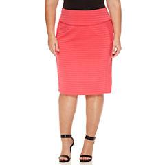 Bisou Bisou Pencil Skirt Plus