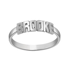 Personalized Block Name Ring