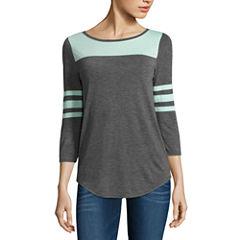 Arizona 3/4 Sleeve T-Shirt-Juniors