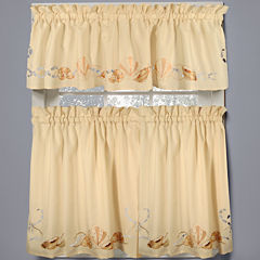Seabreeze Rod-Pocket Kitchen Curtains