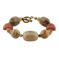 Art Smith by BARSE Multi-Stone Brass Bracelet