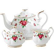 Royal Albert® White Vintage 3-pc. Bone China Teapot Set