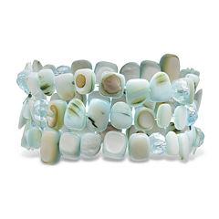 Mixit™ Blue 3 Row Shell Bracelet