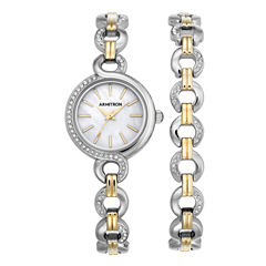Armitron Now Womens Two Tone Watch -75/5485mpttst