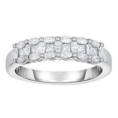 Womens 5/8 CT. T.W. White Diamond 14K Gold Band
