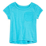 Okie Dokie Short Sleeve T-Shirt-Baby Girls