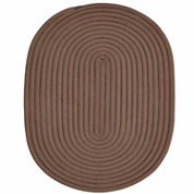 Better Trends Bouncy Braided Oval Reversible Rug