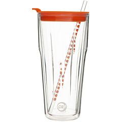 Zak Designs® HydraTrak™ 20-oz. Clear Insulated Tumbler with Straw
